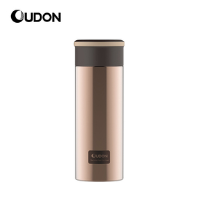 OUDON贝西系列办公杯OD-32A17(容量:320ml;颜色:啡金色;产品主体材质:304不锈钢(食品用)、塑件:PP(食品用)、密封圈:硅胶(食品用))