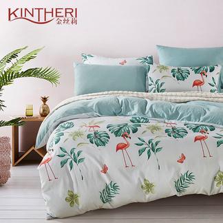 金丝莉 好睡眠水洗棉四件套 - 唯秘花园 1.8-2米床适用