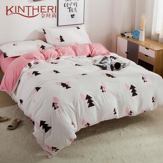 金丝莉 好睡眠水洗棉四件套 - 娜塔丽 1.8-2米床适用
