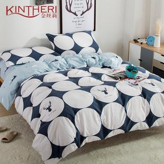 金丝莉 好睡眠水洗棉四件套 - 瑞贝卡 1.8-2米床适用