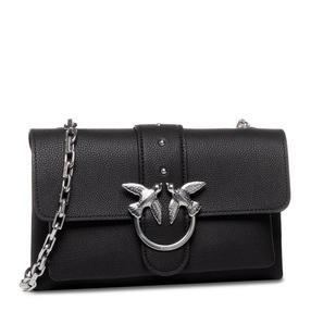 【香港直邮】Pinko 品高 女士黑色铆钉装饰链条包 1P21M2-Y65ZZ99