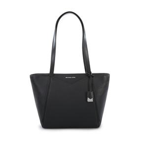 【香港直邮】Michael Kors 迈克·科尔斯 女士黑色皮革手提包 30S8SN1T1L-Black