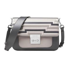 【香港直邮】QH Michael Kors 迈克·科尔斯 女士灰色拼色皮革单肩包 30F8TS9L9X-CHARCOAL