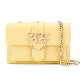 【香港直邮】Pinko 品高 女士黄色燕子链条包 1P21QQ-Y5FFH44