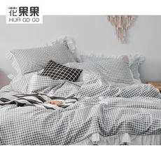 BXS系列 全棉磨毛格纹四件套 温暖过冬 多色可选