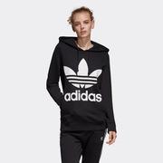 adidas阿迪达斯 TREFOIL HOODIE 三叶草运动针织套衫CE2408