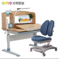 光明园迪 学习桌矫正椅组合 A105橡胶实木/A6