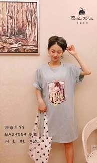 佰倫世家BA24084短袖裙