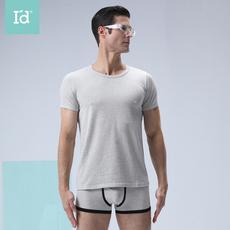 爱帝2020年春夏新品男式弹力圆领短袖短裤打底套装