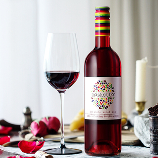 梦时刻意大利原瓶进口 微气泡红酒 女士甜白/红葡萄酒 甜型微起泡酒750ml 梦时刻甜红微起泡酒