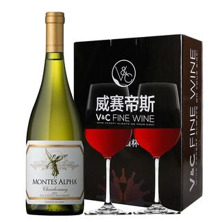 智利红酒 原瓶原装进口Montes 蒙特斯 欧法系列 欧法莎当妮750ML