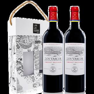 拉菲(LAFITE)巴斯克卡本妮苏维翁干红葡萄酒双支艺术印花礼盒 智利原瓶进口红酒 750ml*2