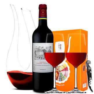 拉菲红酒法国原瓶进口 lafite凯萨天堂古堡干红葡萄酒750ML