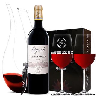 【赠酒具套装】进口红酒 DBR拉菲ASC 传奇圣爱美乐干红葡萄酒 750ML*1