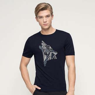 七匹狼短袖圆领狼文化针织衫111A20802695