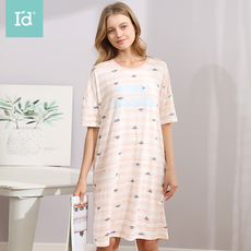 爱帝2020年春夏新品女式卡通考拉印花短袖睡裙