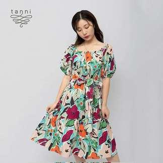 tanni新品夏装时尚优雅连衣裙5G1D324CAM
