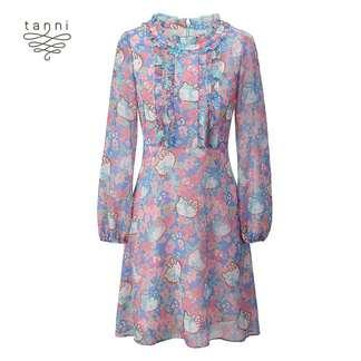 tanni2020春季新款女装时尚百搭显瘦气质印花连衣裙TJ11DR864A