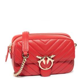 【香港直邮】Pinko 品高 女士红色燕子单肩包 1P21QY-Y677R24