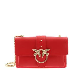 【香港直邮】Pinko 品高 女士红色燕子单肩包 1P21KU-Y5FFR24