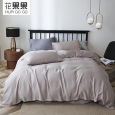 花果果DT系列 纯灰天丝四件套 凉爽丝滑 高端品质四件套