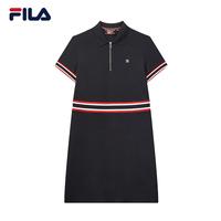 FILA 斐樂官方高圓圓同款女子polo裙 2020夏季新款運動連衣裙女裙 F11W021310FWT