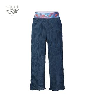 tanni2020春夏新款女装裤子印花气质舒适收腰长裤TJ11PA017A