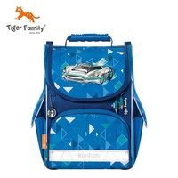 tigerfamily小学生书包男女儿童1-3年级减负护脊双肩包大容量超级跑车