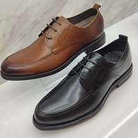 沙馳男鞋黑色經典英倫商務正裝系帶鞋男 頭層尖頭牛皮鞋低幫透氣驚爆價斷碼處理