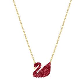 【香港直邮】Swarovski 施华洛世奇 限量款红色经典天鹅 Iconic Swan 项链 5465400