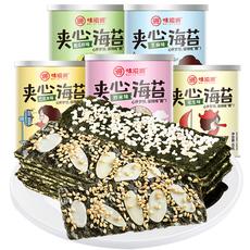 味滋源 夹心海苔脆40g*2罐芝麻夹心海苔即食罐装海苔宝宝儿童零食