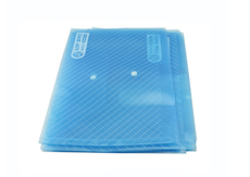 晨光(M&G)蓝色斜纹纽扣袋A4 ADM94517(695902)【限中建三局采购,其他订单不发货】