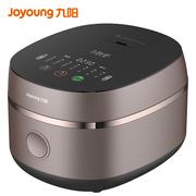 九阳(Joyoung)电饭煲铁釜内胆4升L家用电饭锅钢化玻璃面板智能预约F-40TD02 棕色