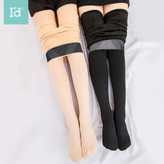爱帝女式加绒加厚保暖裤打底袜纯色单条装