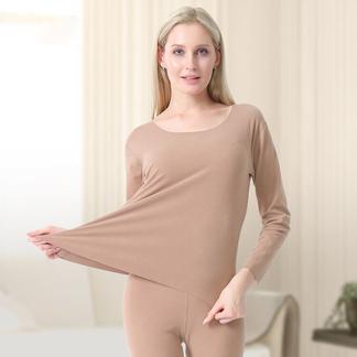 里玫2021年德绒自发热保暖内衣女士套装加绒加厚修身无痕高弹秋衣裤冬季-016PDD1313180