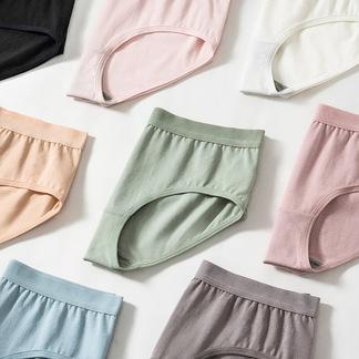 爱帝7条内裤女****印花日系弹力薄款贴身透气中腰三角底裤头