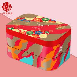 錦華糕點禮盒 繽紛臻禮780g 雙層鐵盒西餅混合果仁