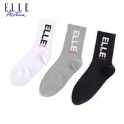 ELLE ACTIVE 三双男装中筒袜 BW1Q09052020Z3【仅 限自提】