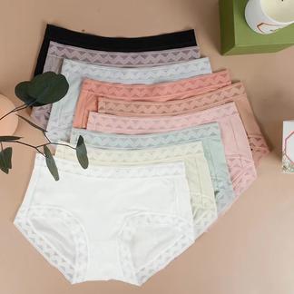 绯素2021新品SPA级养肤内裤超薄鱼丝蛋白蕾丝舒适透气女士内裤三条装-029Y66002