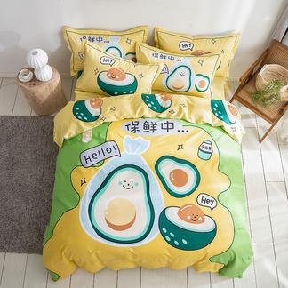 VIPLIFE全棉四件套 时尚卡通纯 棉床单床笠床品套件【卡通系列】