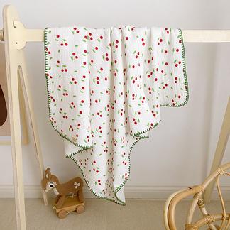 VIPLIFE全棉四层有氧纱儿童浴巾/盖毯/小被子