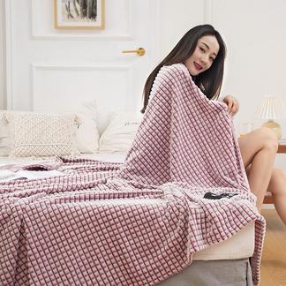 VIPLIFE休闲牛奶绒格子毯子法莱绒宝宝绒毛毯【休闲毯系列】