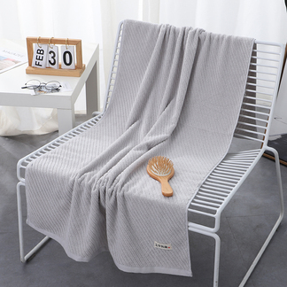 VPLIFE全棉艾草浴巾加大加厚家用吸水速干不掉毛艾草斜纹浴巾
