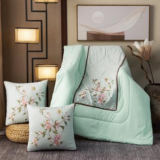 VIPLIFE轻奢中国风新中式古典刺绣60支全棉贡缎抱枕被