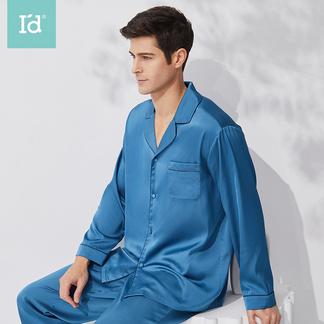 【专柜同款】男士缎面仿真丝国风长袖长裤家居服套装9201602001