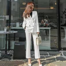 另兮2021新款春秋西装套装女韩版气质收腰显瘦修身OL职业商务正装西服-016PDD19813616