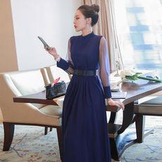 另兮气质名媛长裙春款2021年新款女遮肚子高腰连衣裙收腰显瘦时尚裙子-016PDD1968900
