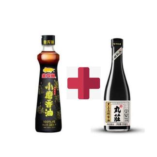 金龙鱼小磨香油220ML+丸庄酱油300ml