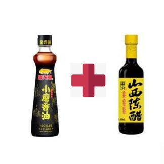 金龙鱼小磨香油220ML+梁汾山西陈醋3.5度450ML