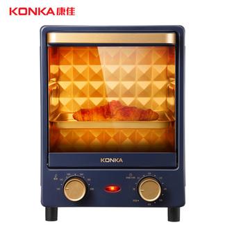 KONKA康佳 电烤箱KAO-L12  三层烤位 广域温控 立式12L容量